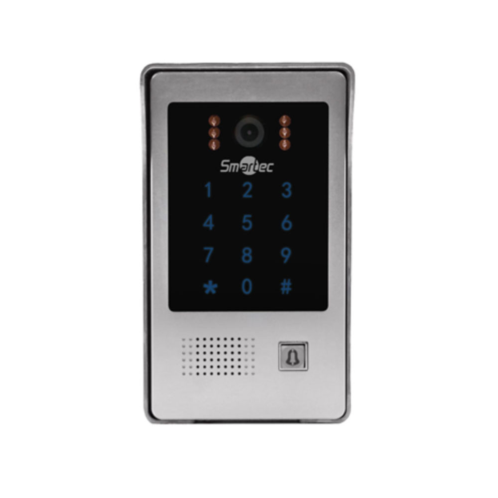 Вызывная панель видеодомофона Smartec ST-DS406C-SL с контр. и счит., серебро