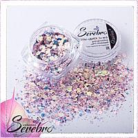 """Дизайн для ногтей Соты """"Диско"""" №05 """"Serebro collection"""", цвет: розовый"""