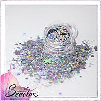 """Дизайн для ногтей """"Палочки и соты"""" """"Serebro collection"""""""
