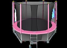 Батут Hasttings Classic Pink (3,05 м) с защитной сетью и лестницей