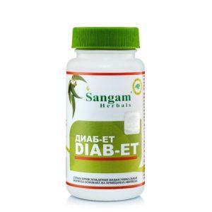 Диабет Diab-et 60 табл ,Sangam Herbals Диаб-Ет облегчает течение сахарного диабета
