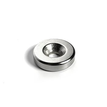 Магнит неодимовый с отверстием 20X5mm