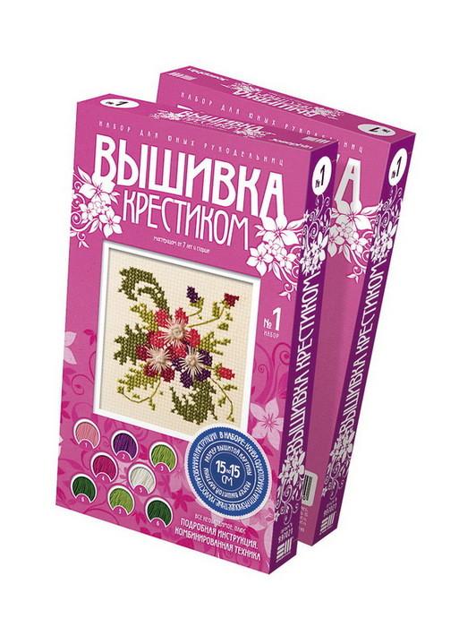 """Фантазёр 997021 Мини-вышивка крестиком №1 """"Цветы"""""""