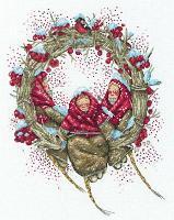 """Набор для вышивания крестом """"Снегирини"""""""