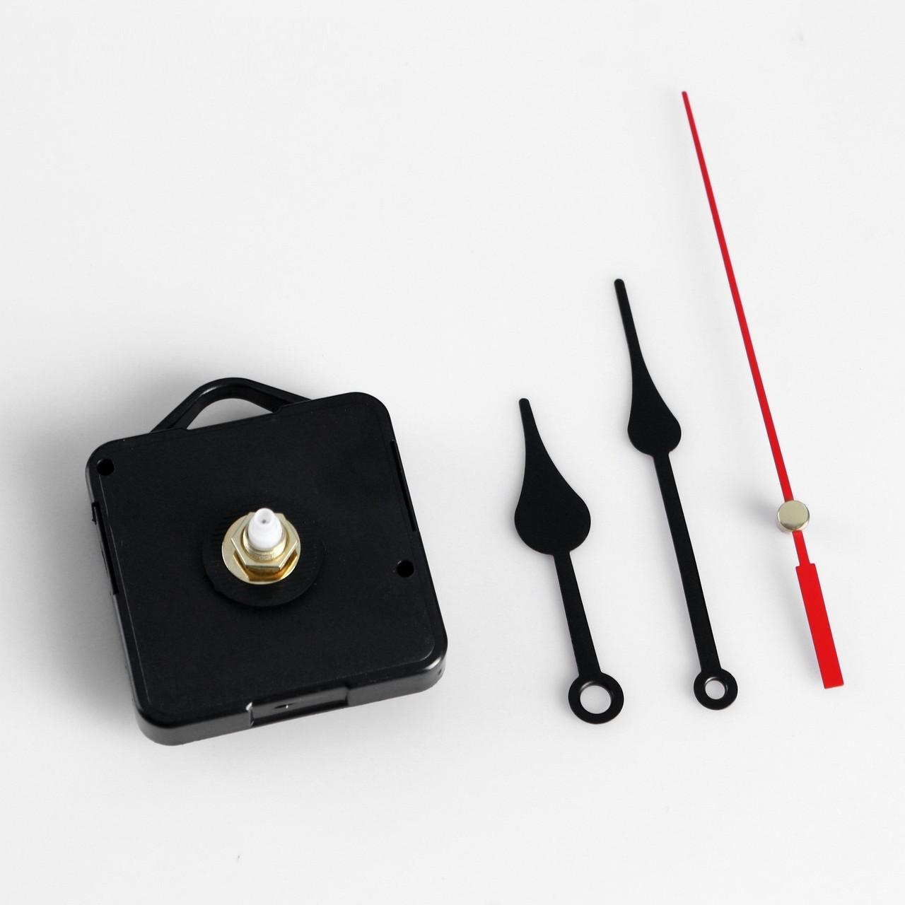 """Набор, часовой механизм 3268 с подвесом, комплект стрелок """"Пики"""", 12х18см"""