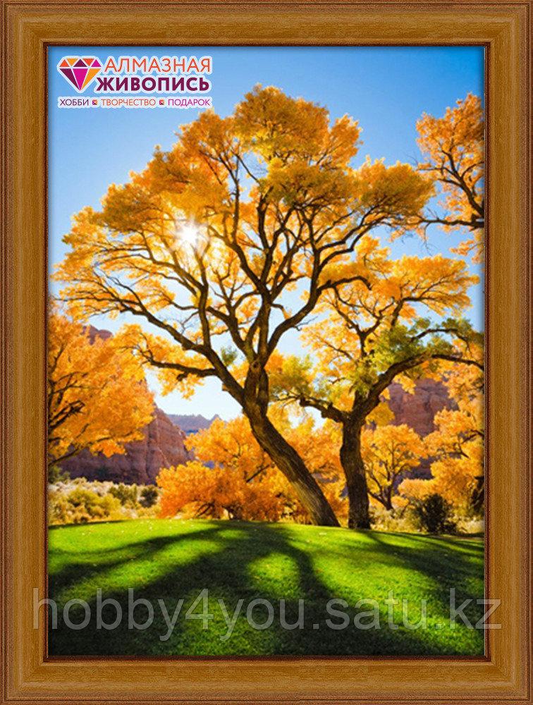 Картина стразами на холсте «Осеннее дерево», 40*50см