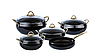 Набор кастрюль из 9-ми предметов с антипригпрным покрытием O.M.S