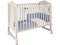Кроватка детская 621 Зайки бежевый-синий капри (Polini, Россия)