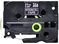 Лента TZe-151, черным на прозрачном