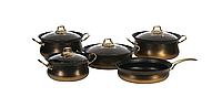 Комплект посуды для приготовления OMS, 9 предм. с антипригарным покрытием, фото 1