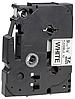 Лента TZe-FX221, черным на белом, повышенной гибкости, для принтеров Brother PT 9700PC и пр.