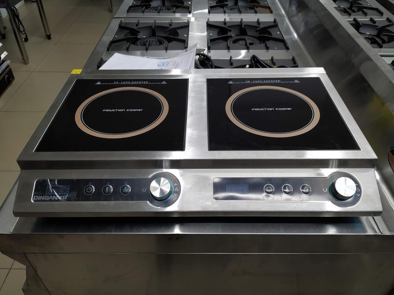 Плита индукционная настольная, мощность 3.5+3.5 кВт