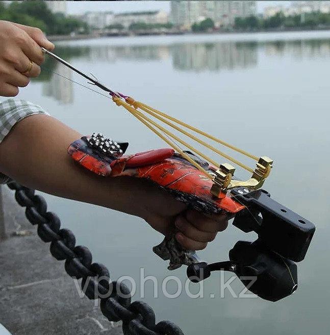 Рыболовная рогатка с упором