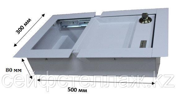 Банковский кассовый передвижной лоток кассира  Глубина 80 мм