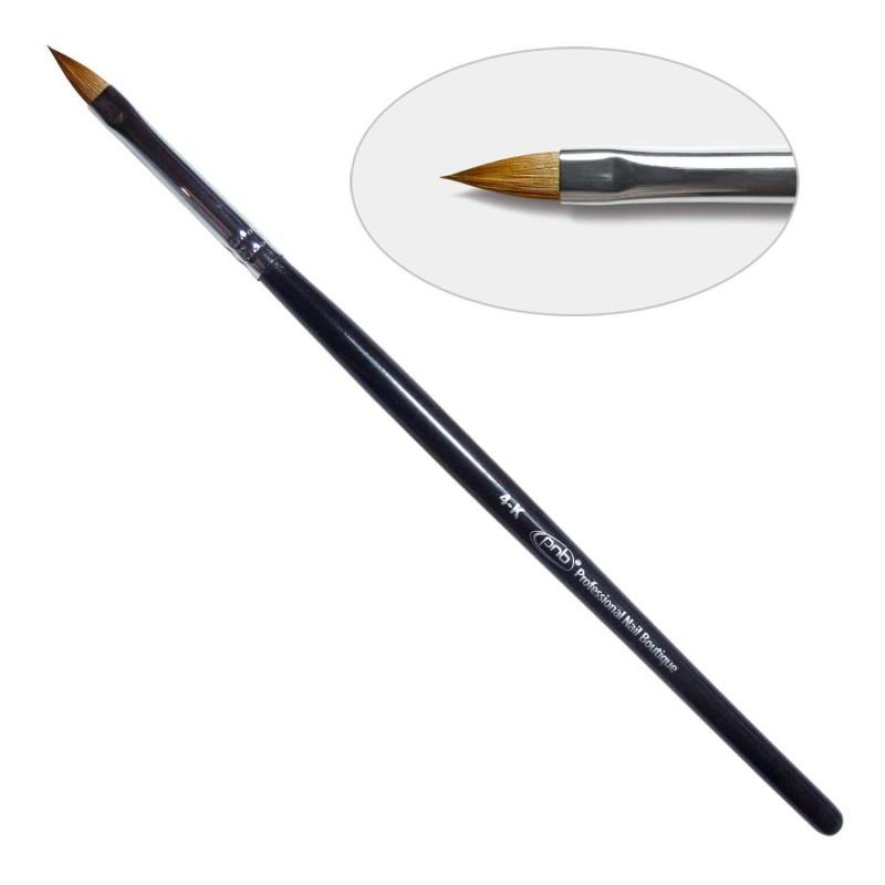 4G. Кисть для геля лепесток  4-к PNB, колонок/ Gel Brush Oval sharp 4-к, kolinsky