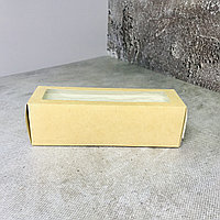 Коробка для макарон на 6 шт, крафт, 18х5,5х5,5см