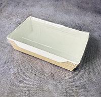 Эко коробка с крышкой (трайфл), крафт, 800мл