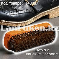 Щетка для обуви с конским волосом с широкой деревянная ручкой Гайхмаараа