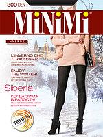 Термоколготки MINIMI Siberia 300 ден из хлопка с ворсом изнутри