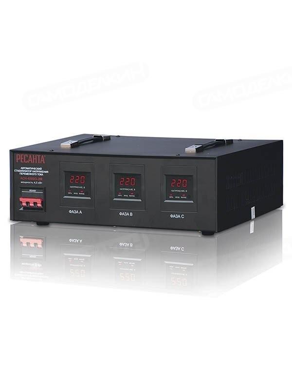 Стабилизатор напряжения электромеханический-РЕСАНТА - 4 500/3 АСН ЭМ (380)