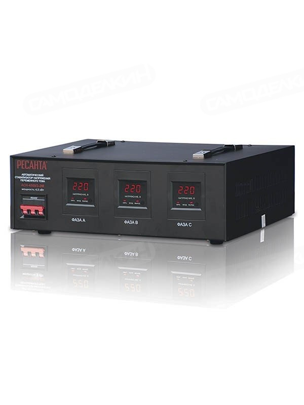 Стабилизатор напряжения электромеханический-РЕСАНТА - АСН-  3 000/3 (380)