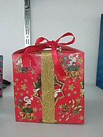 Коробочка для подарков Новогодний Дед Мороз 15*15 см