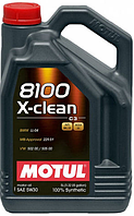 Моторное масло Motul 5W-30 8100 X-CLEAN+ 5L