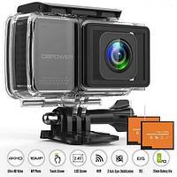 Action-камера с оптическим стабилизатором изображения DBPOWER EX7000 PRO 4K с touch-screen