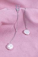 Длинные серебряные серьги с барочным жемчугом