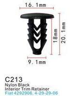 Forsage Клипса для крепления внутренней обшивки а/м Фиат пластиковая (100шт/уп.) Forsage клипса F-C213(Fiat)