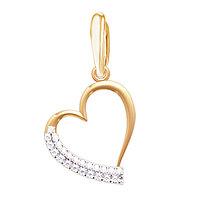 Подвеска из золота с бриллиантами в виде сердца