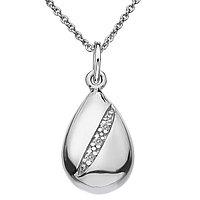 Кулон из серебра с бриллиантом