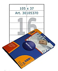 Этикетки самоклеящиеся Multilabel, А4, 105 х 37 мм., 16 шт/лист, 50 л.