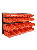 PROSPERPLAST Стенд инструментальный с пластиковыми лотками (775х390мм; лотки: 120х80х60мм-10шт,