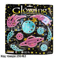 """Фосфорные планеты наклейки на потолок """"Космос"""" (планеты, кометы) No.663"""
