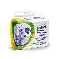 PetMil, одноразовые пеленки для животных, размер 60*40 см, уп.30 шт.