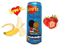 LOVE is Газ напиток Клубника - Банан (Синий) 330ml /12шт-упак/