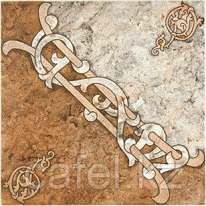 Керамогранит | плитка для пола 33х33 - Арабская вязь мнооцветный