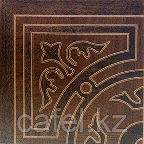 Керамогранит | плитка для пола 33х33 - Корте | Corte орнамент коричневый