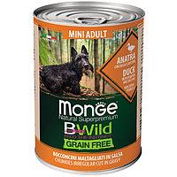 2638 Monge BWild GF, Mini Adult Anatra, влажный корм для взрослых собак мелких пород с уткой, банка 400гр.