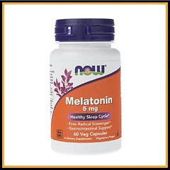 Now Foods Мелатонин 5мг (60капсул)