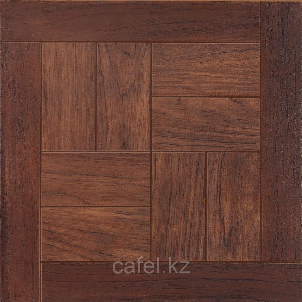 Керамогранит   плитка для пола 33х33 - Паркет дуб коричневый