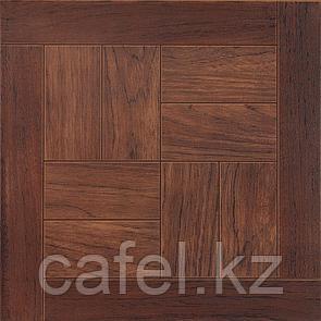 Керамогранит | плитка для пола 33х33 - Паркет дуб коричневый