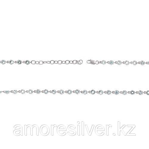 Браслет TEOSA серебро с родием, топаз, карабинный замок, дорожка 0215-B-T размеры - 19,5