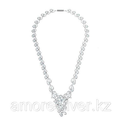 Колье TEOSA серебро с родием, топаз фианит, карабинный замок, многокаменка N-DRGR00509-T размеры - 45