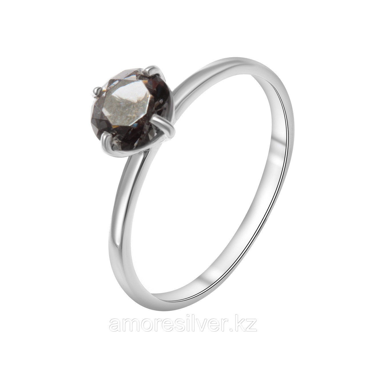 Кольцо TEOSA серебро с родием, фианит синт. 100-1101-Bdn размеры - 16,5