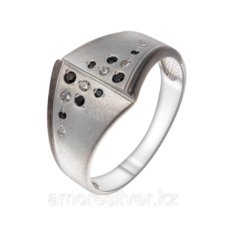 Кольцо Delta серебро с родием, фианит, многокаменка с1100070 размеры - 18