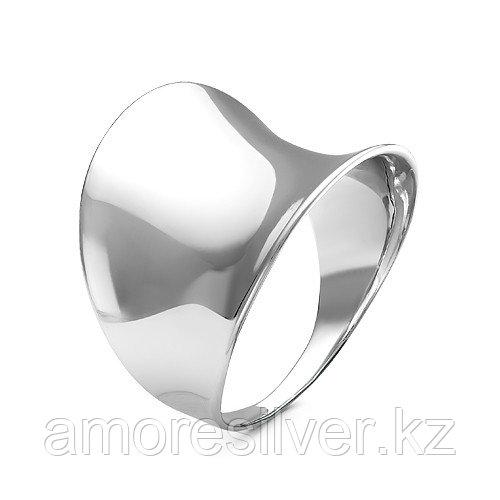 """Кольцо MASKOM серебро с родием, без вставок, """"линии"""" С100-1204 размеры - 18,5"""