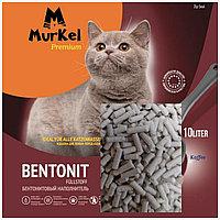 Murkel Elita, Муркель Элита, Комкующийся наполнитель для кошачьего туалета с кофе, уп.10л (8 кг.)