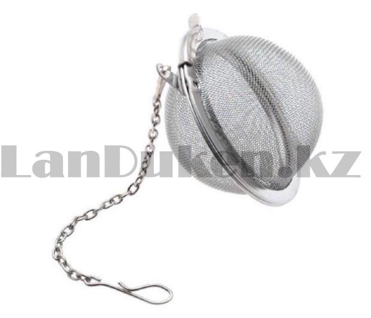 Ситечко для заварки чая с цепочкой диаметр 4,5 см - фото 3